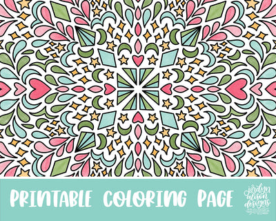 Doodle Pattern Coloring Page