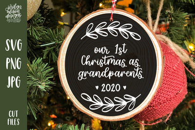 Cut File | First Christmas Grandparents Christmas Round SVG