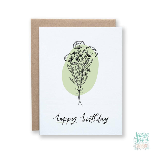 Happy Birthday - Floral Blob - JordynAlisonDesigns