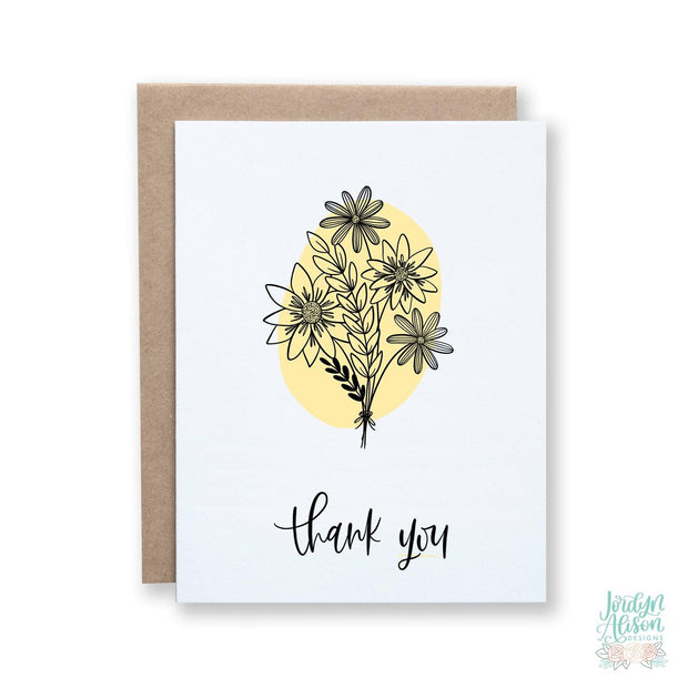 Thank You - Floral Blob - JordynAlisonDesigns