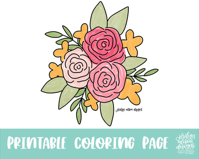Floral Bundle Coloring Page