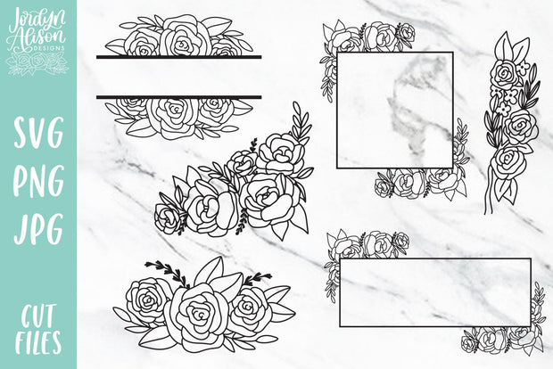 Cut File | Floral Frame Bundle Vol 1