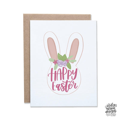 easter bunny ears greeting card