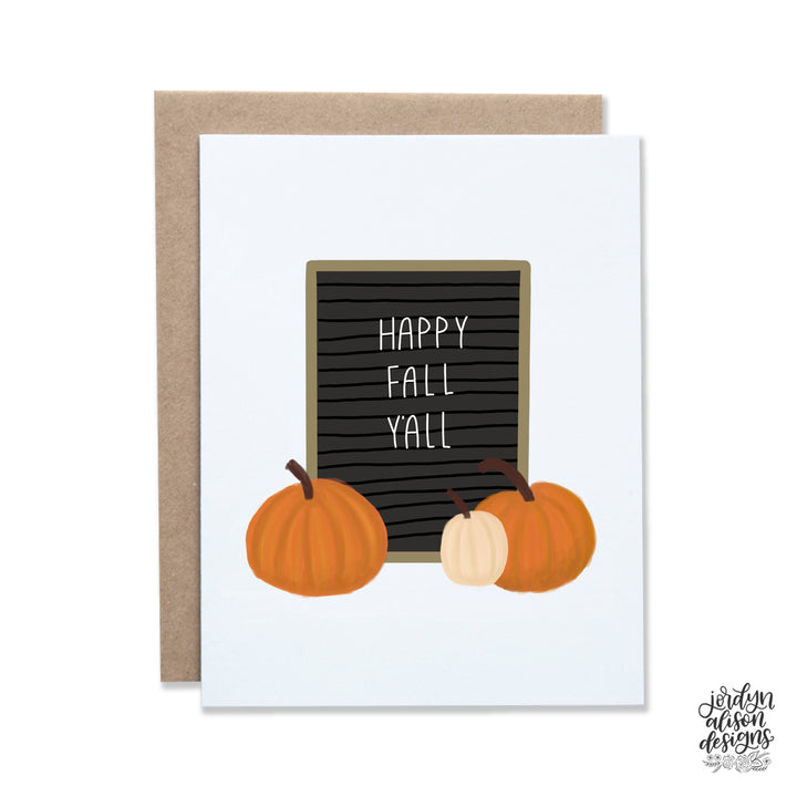 Happy Fall Y'all Letterboard
