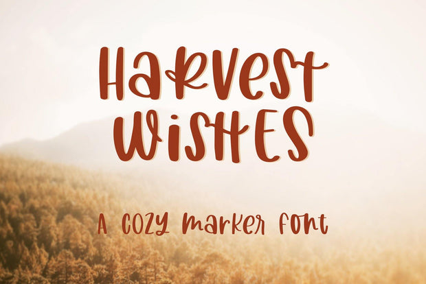 Harvest Wishes Font