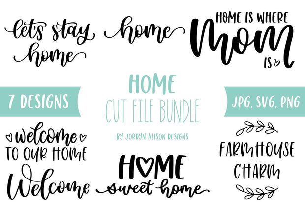 Cut File | 7 Home Bundle - JordynAlisonDesigns