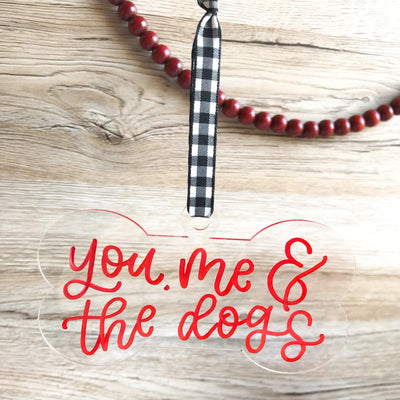 Clear Acrylic Dog Bone Ornament - Custom