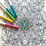 Triangles Coloring Page