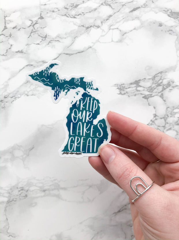Keep Our Lakes Great, Charity Sticker