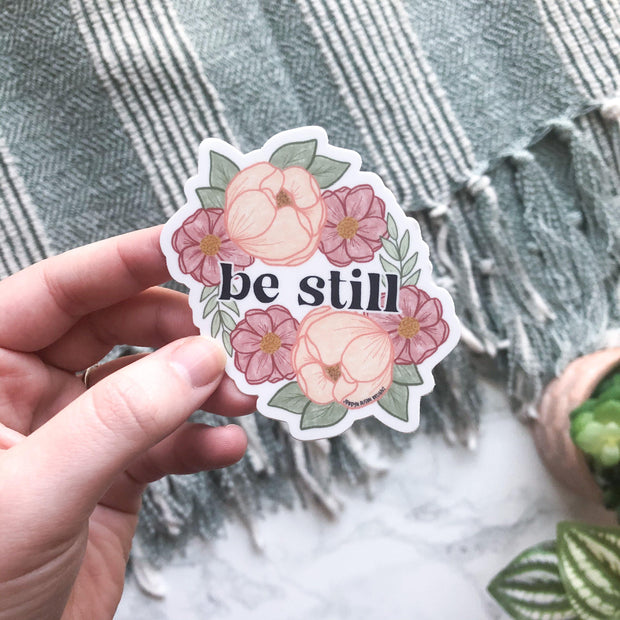 Be Still, Charity Sticker