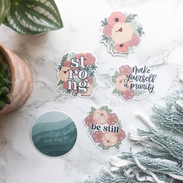 Floral Bundle 7, Charity Sticker