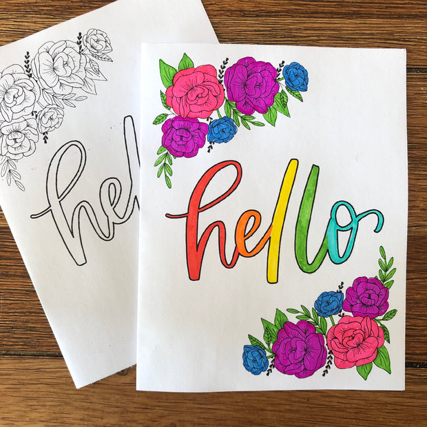 Printable Card - Hello
