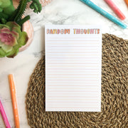 Random Thoughts Notepad
