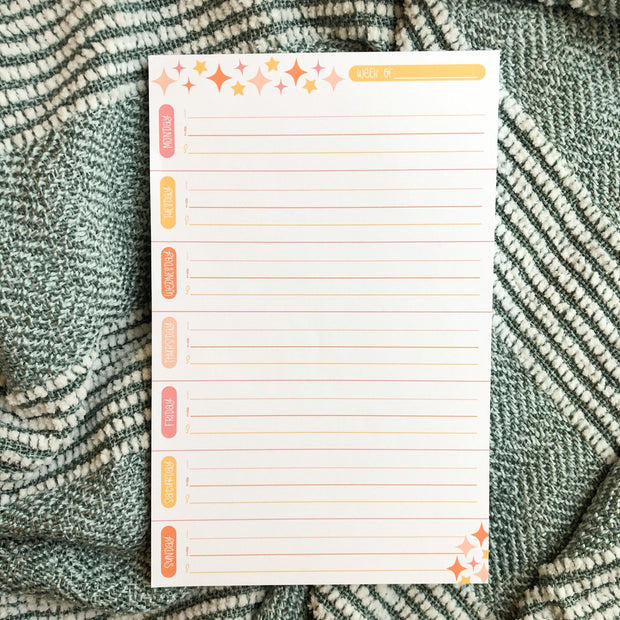 Three Things Weekly Notepad - JordynAlisonDesigns