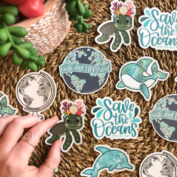 Earth Day Every Day, Charity Sticker - JordynAlisonDesigns