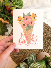 Birthday Floral Ice Cream - JordynAlisonDesigns