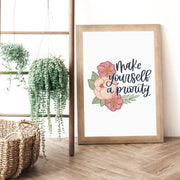 Make Yourself Priority, Charity Print