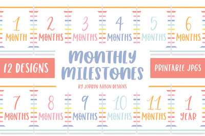 Rainbow Stripes Monthly Milestones