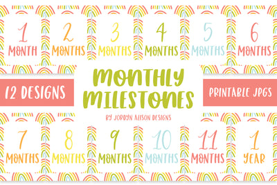Rainbow Monthly Milestones