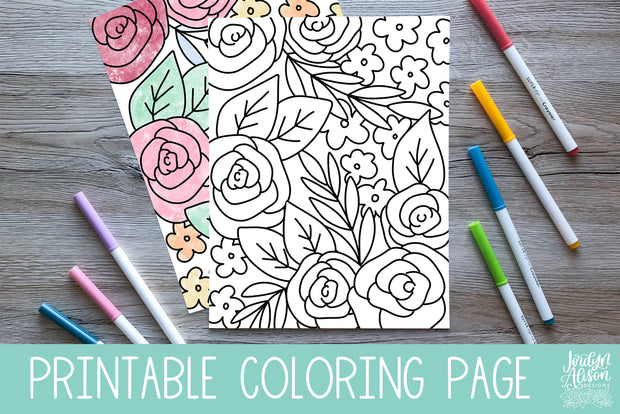 Spring Floral 2 Coloring Page