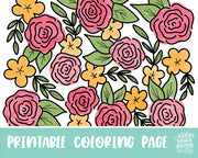 Spring Floral Coloring Page