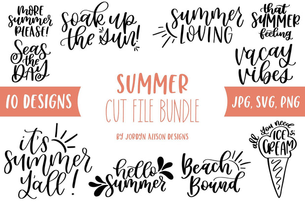Cut File | 10 Summer SVG Bundle