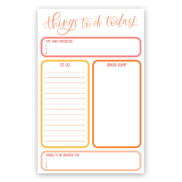 Things to Do Today Notepad - JordynAlisonDesigns