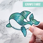 Whale, Charity Sticker