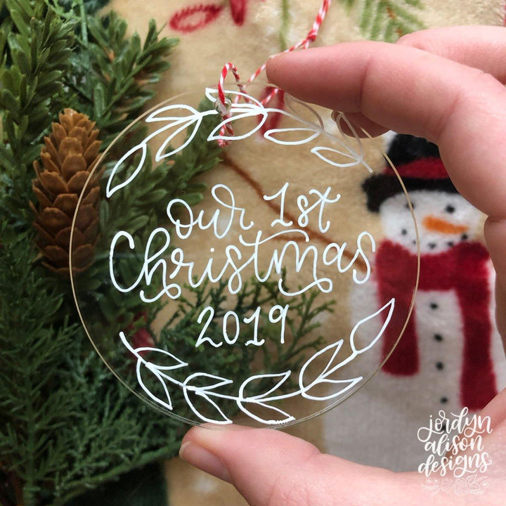 Custom Clear Acrylic Ornament