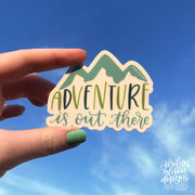 adventure is out there vinyl sticker