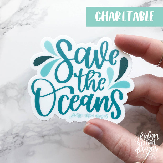 Save The Oceans, Charity Sticker