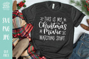 Cut File | Christmas Movie Watching Shirt