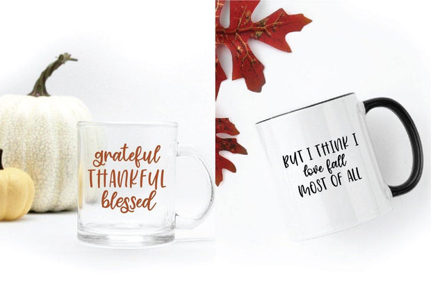 coffee mugs with cinnamon sugar font