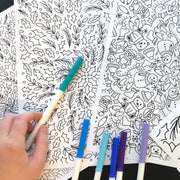 Holiday Floral Coloring Page