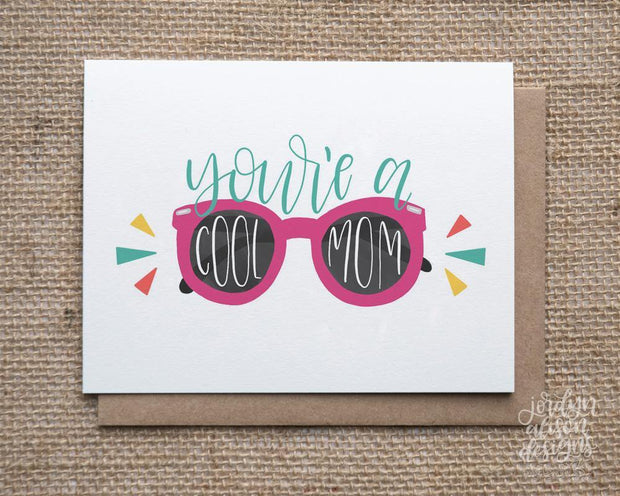 cool mom greetng card
