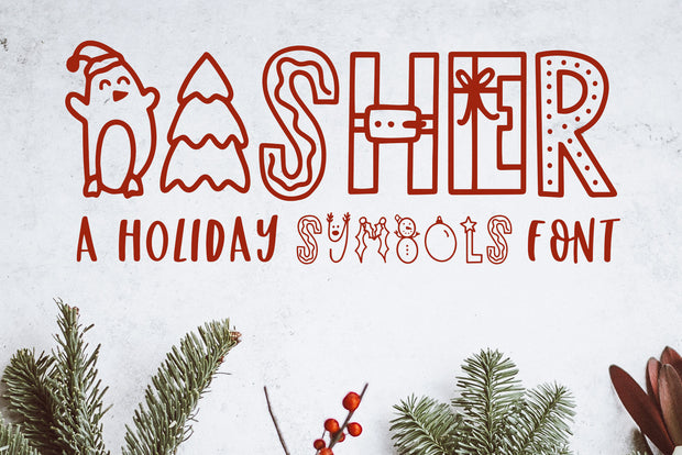 Dasher, Christmas Symbols Font