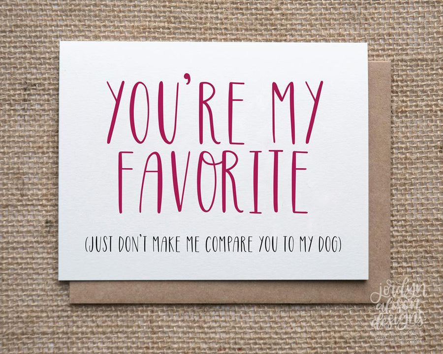 favorite over dog greeting card