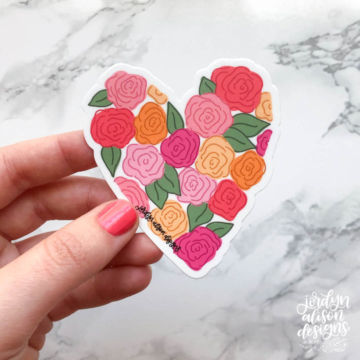 Floral Heart Sticker