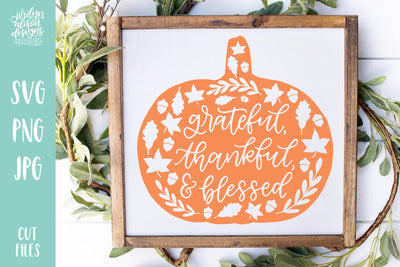 Cut File | Grateful Pumpkin