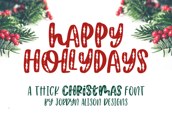 Happy Hollydays, Christmas Font