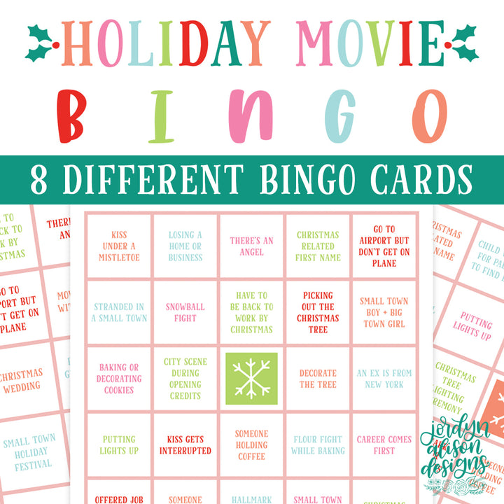 Holiday Movie Bingo