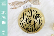 Cut File | Joy to the World Circle Christmas SVG