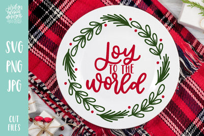 Cut File | Joy To The World Wreath