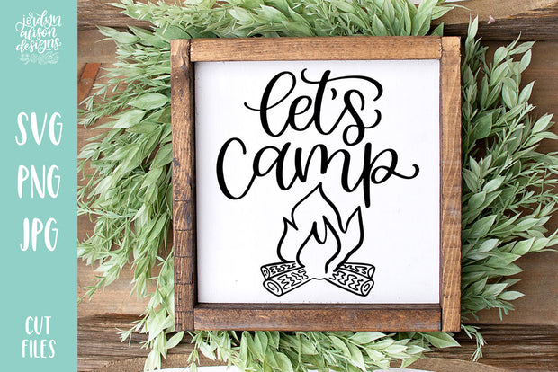 Cut File | Let's Camp SVG