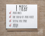 Miss You Checklist