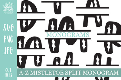 Mistletoe Split Monograms