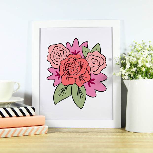 Pink Floral Bundle, Printable Art