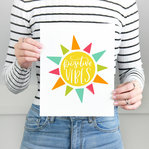 Positive Vibes, Printable Art