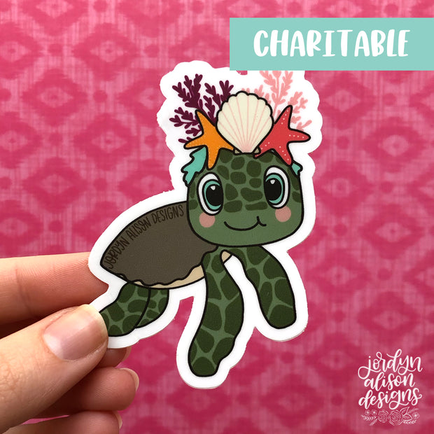 Sea Turtle, Charity Sticker