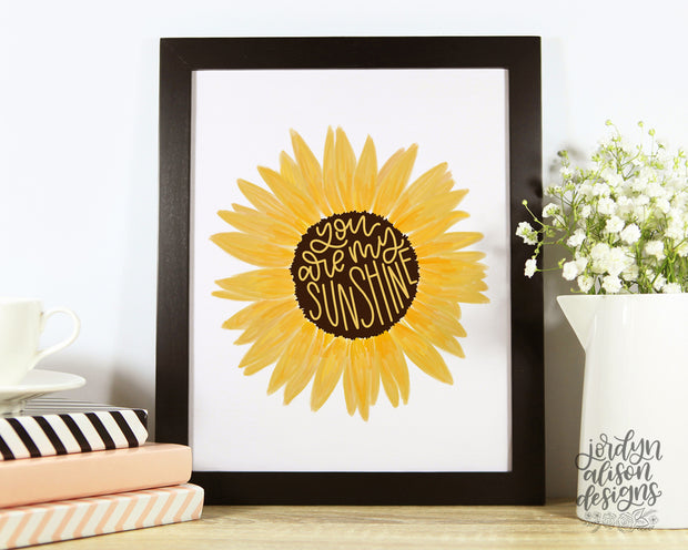 Yellow sunflower framed print
